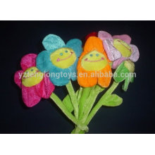 plush smile face sun flower toy for girl friend