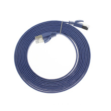 Gold plug ethernet RJ45 patch cord cat7 flat cable