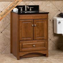 Fed-6056 Cabinet de toilette en bois massif Cabinet de salle de bains de haute qualité