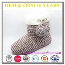 Forrado con piel personalizada de invierno borrosa Boots Girls