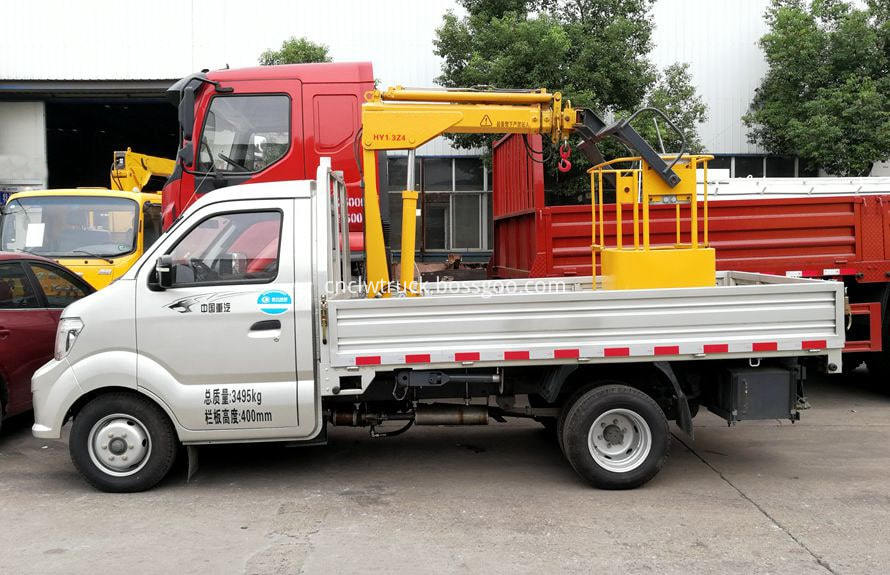 small crane truck