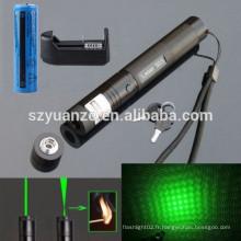 Axe réglable Brûleur Match Lazer 303 Pointeur laser vert