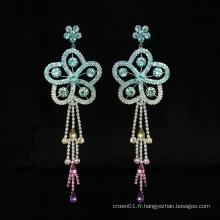 Nouveau design de mode fleur cerceau huggie femmes boucles d'oreilles