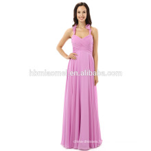 High end customized dress floor length v-neck sleeveless Lady fashion sexy evening dress