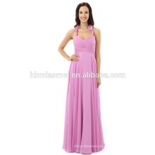 High end personalizado vestido até o chão sem mangas com decote em v Lady moda sexy vestido de noite