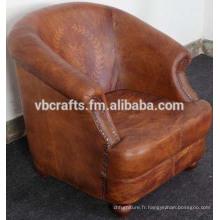 Canapé en cuir Couch Style européen