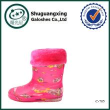 sheep print rain boots C-705