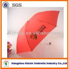 Paraguas de promoción de Color rojo para la venta