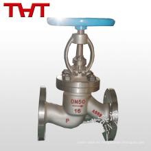 pn16 válvula de globo con bridas de acero al carbono