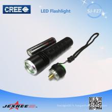 Jexree a conduit la lampe de poche a conduit des lampes de poche tactiles rechargeables fabriquées en Chine
