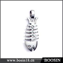 Funny Gift Metal Fishbone Pendant #1573