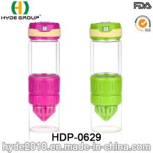 Botella de agua de cristal de la infusión de la fruta del FDA libre de 550ml BPA (HDP-0629)