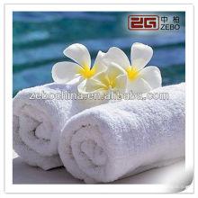 100% algodão branco atacado toalha de rosto do hotel / garantia comercial
