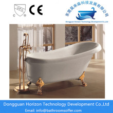 Factory wholesale price for Clawfoot Bathtub White claw foot bathtub acrylic tubs export to France Manufacturer