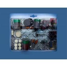 Kits de miniatura com fio frisado escova e polimento de pedra