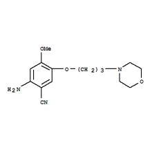 High Quality Gefitinib Intermediate  2-Amino-4-Methoxy-5-(3-Morpholinopropoxy)benzonitrile CAS  675126-27-9