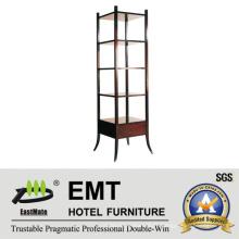 Cabinet décoratif en bois massif en bois multi-étagères (EMT-DC09)