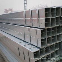 Novo estoque de chegada de tubo de aço quadrado galvanizado para construção