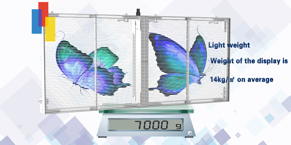 Light weight LED Glass Video Display