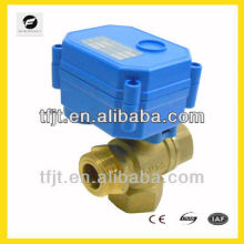 "3 Way Brass electric ball Valve 1/2"" 3/4"" 1 inch"