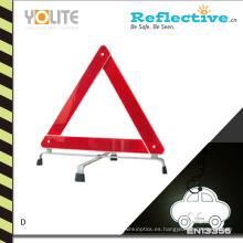 Triángulo de advertencia reflexivo