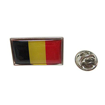 Metal Belgium National Flag Lapel Pins With Enamel
