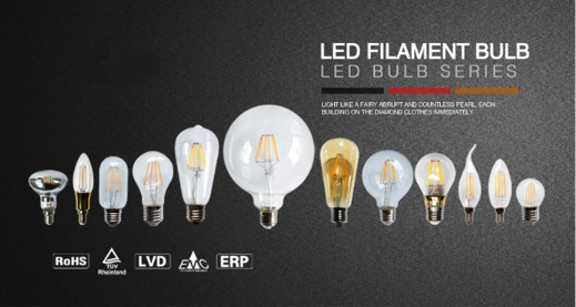 A60 de lampe à incandescence LED E27 6W