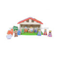 Beautifully Crafted Nativity Scene Kids Learning Set Pictures of Educational Toys