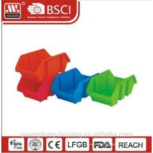 Plasitc empilhável utilitário basket(2pcs)
