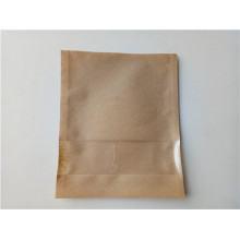 Papel y PLA bolsa de embalaje biodegradable plana