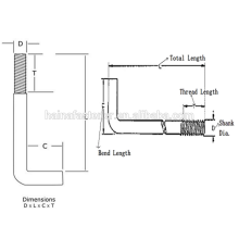 Stainless Steel L Type bolt