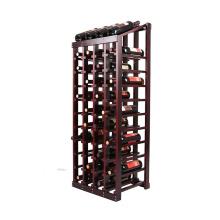 European Style floor standing Wood Wine Bottle Rack For 44 Bottles