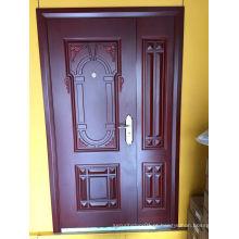 Porta de entrada de segurança de aço recentemente elegante