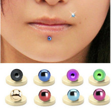 Titanium Magnetic Fake Labret Lip Ball