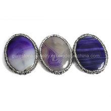 Moda ágata pingente de jóias de cristal para encanto colar de bricolage