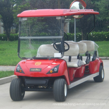 6 Seater Golf Cart Electric Tourist Mini Bus in Park (DG-C6)