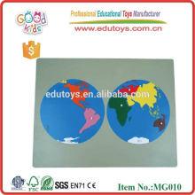 Montessori Weltkarte