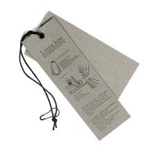 Kundenspezifisch bedruckter ovaler Schuhaufhänger mit Band