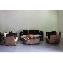 Уникальный забавный DesignsAntique природных водяной гиацинт диван Комплект для гостиной, плетеная мебель