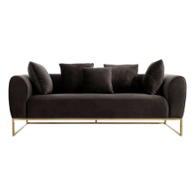 Grey Velvet Canape Home Furniture Couch Living Room Design Seater Sofa Modern