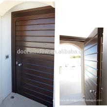 Einfache Außentür Schwingtüren Doppeltür aus 100% massivem roten Eichenholz
