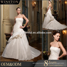 New Luxurious High Quality racer back wedding dress