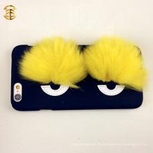 Elegante Fox Pelz Augen Telefon Abdeckungen für Apple Iphones