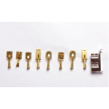 Single brass metal terminal copper stamping