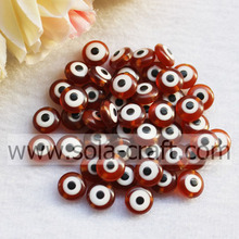 Coffee Reasonable Price Nice Sparkle Necklace Cat`s Eye Resin Beads Wholesale