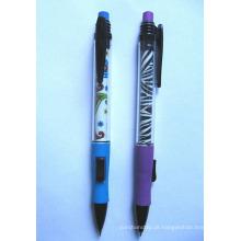 Lápis mecânico com êmbolo lateral