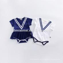 2017 nuevo bebé del estilo arropa el mameluco del bebé del algodón 3pcs / set la ropa del boutique de los niños al por mayor