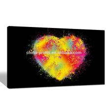 Impresión colorida de la lona del corazón para Dropship / arte contemporáneo de la pared de la lona del amor / ilustraciones modernas de la lona de Giclee