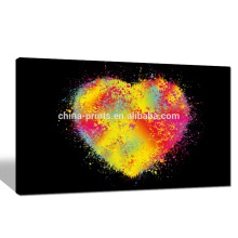 Colorful Heart Canvas Print for Dropship/Contemporary Love Canvas Wall Art/Modern Giclee Canvas Artwork