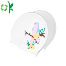 Sombrero de natación de silicona para mujer cómodo con gorra de baño